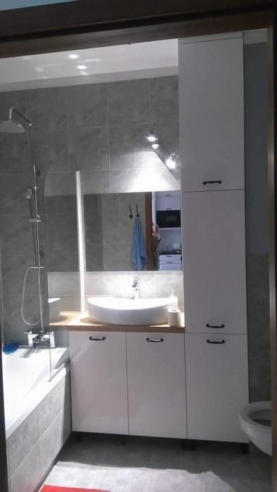 Bardzo dobry Meble łazienkowe lakierowane biały połysk - SzafyKuchnie.waw.pl CZ78